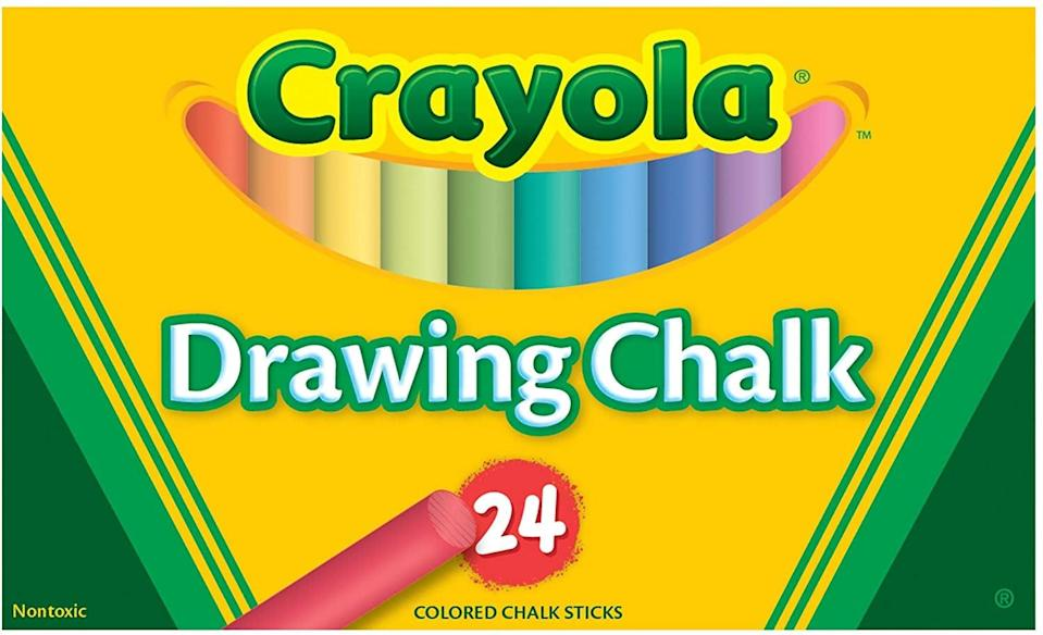 <p>Like with this <span>Binney and Smith Crayola Drawing Chalk</span> ($7).</p>