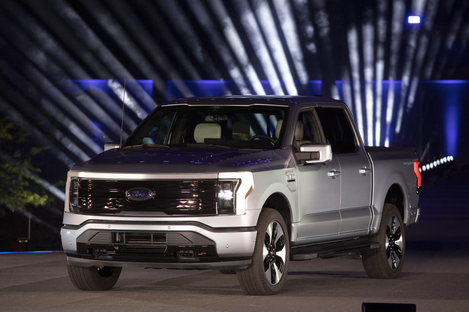 El Ford F-150 Lightning  (Photo by Bill Pugliano/Getty Images)
