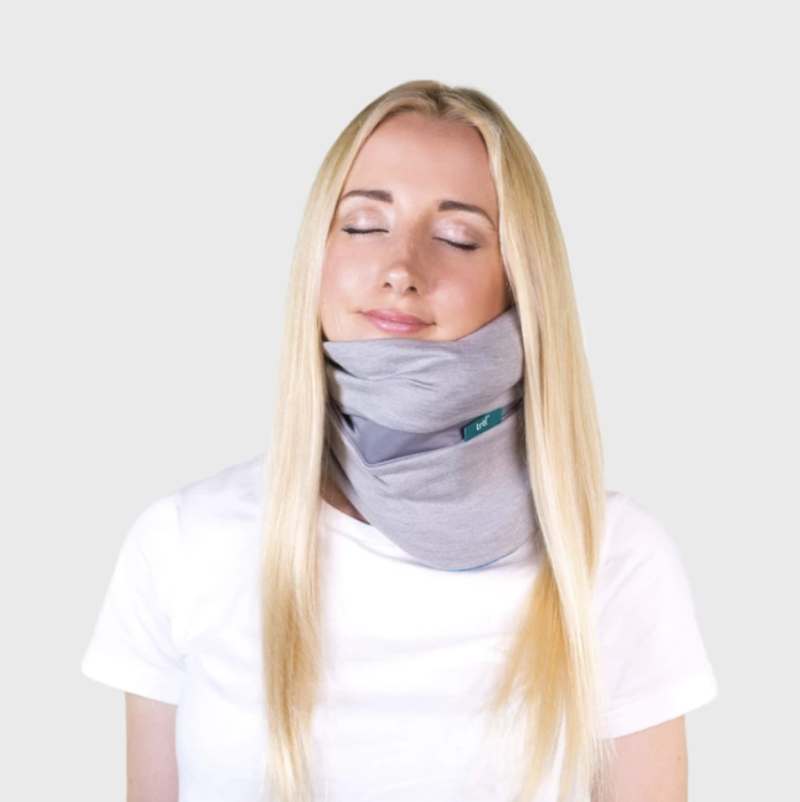 Trtl pillow plus supports your neck while you sleep. (Photo: Trtl)