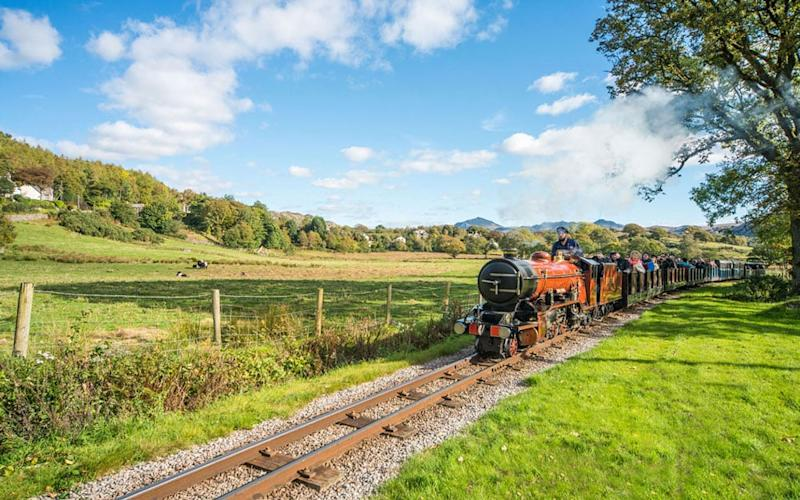 The Ravenglass and Eskdale Railway steams upwards through fields and woodland on a former iron-ore route, and the views are fabulous - brian.sherwen@virgin.net