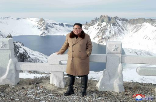 Kim climbed the mountain in December 2017, shortly before the diplomatic rapprochement that led to his Singapore summit with Donald Trump -- the first between leaders of the North and the US