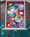 <p>Reusing some old dishes as organizers can help you finally tame that junk drawer. Place a non-slip mat underneath to keep them from shifting when you open and close the drawer.</p>