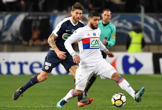 Nabil Fekir's 20th goal of the season sends Lyon through to the last eight of the French Cup (AFP Photo/PASCAL GUYOT)