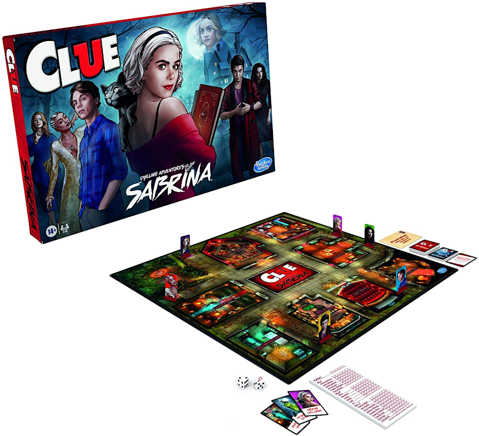"<h2>30% Off Clue: Chilling Adventures of Sabrina Edition</h2><br>Stock up board games for your pod (as winter festivities are looking like game night every night) or buy one of <a href=""https://amzn.to/2VltaN6"" rel=""nofollow noopener"" target=""_blank"" data-ylk=""slk:the many board games on sale up to 50% off"" class=""link rapid-noclick-resp"">the many board games on sale up to 50% off</a> for your favorite niece or nephew.<br><br><strong>Hasbro Gaming</strong> Clue: Chilling Adventures of Sabrina Edition, $, available at <a href=""https://amzn.to/33uTU2k"" rel=""nofollow noopener"" target=""_blank"" data-ylk=""slk:Amazon"" class=""link rapid-noclick-resp"">Amazon</a>"