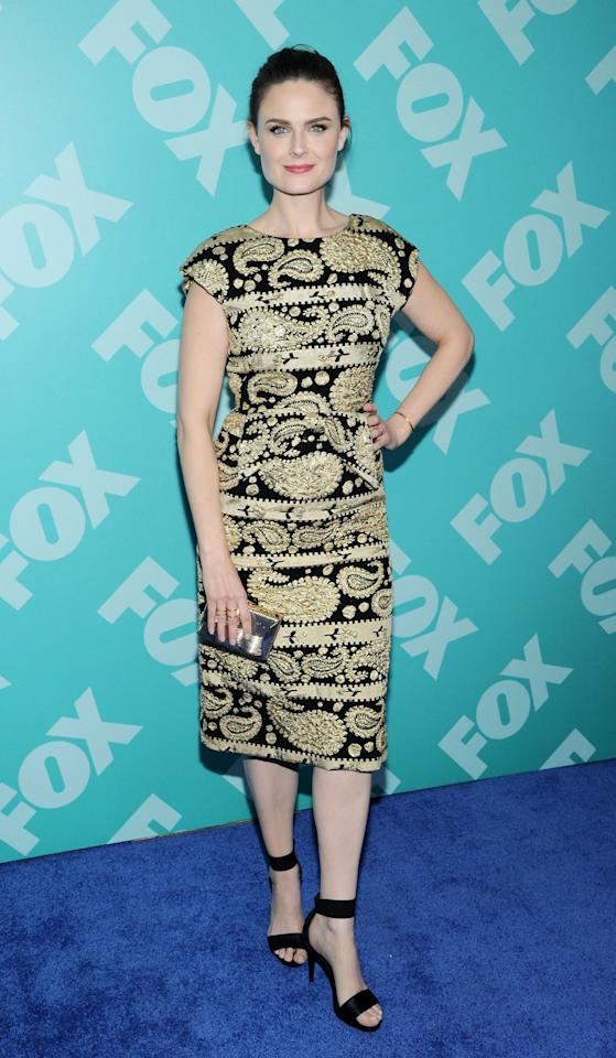 NEW YORK, NY - MAY 13:  Emily Deschanel attends FOX 2103 Programming Presentation Post-Party at Wollman Rink - Central Park on May 13, 2013 in New York City.  (Photo by Ilya S. Savenok/Getty Images)
