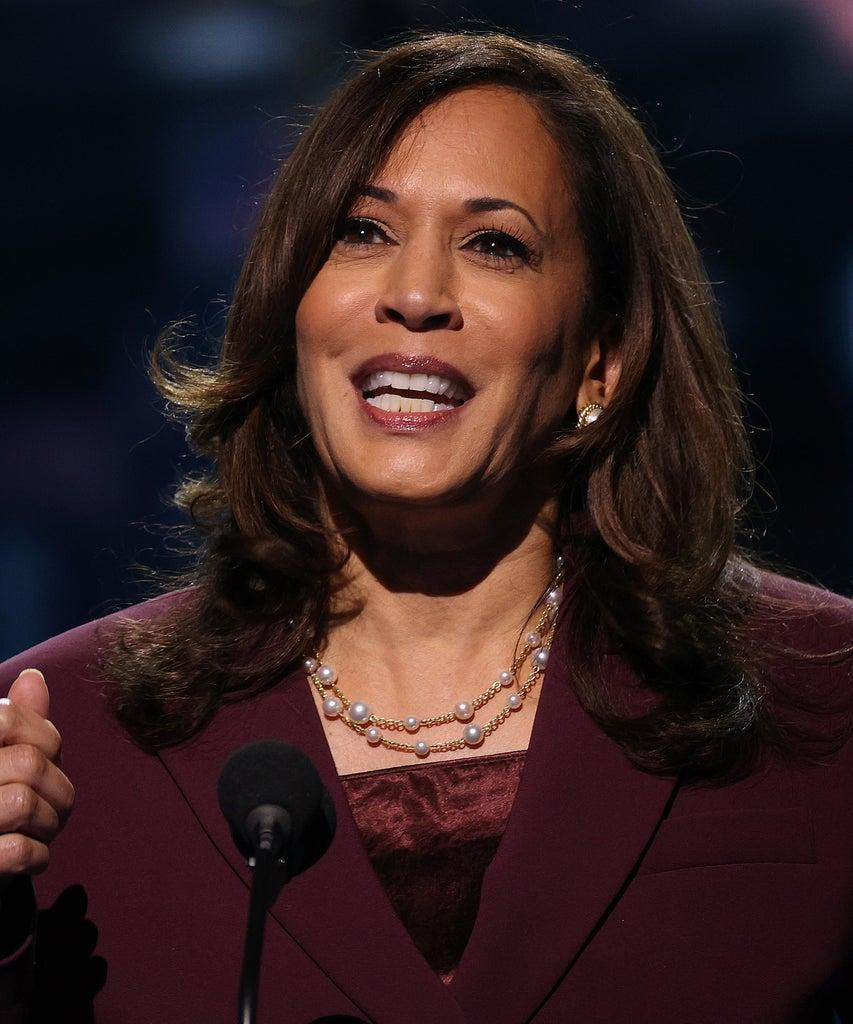 WILMINGTON, DELAWARE – AUGUST 19: Democratic vice presidential nominee U.S. Sen. Kamala Harris (D-CA) speaks on the third night of the Democratic National Convention from the Chase Center August 19, 2020 in Wilmington, Delaware. The convention, which was once expected to draw 50,000 people to Milwaukee, Wisconsin, is now taking place virtually due to the coronavirus pandemic. Harris is the first African-American, first Asian-American, and third female vice presidential candidate on a major party ticket. (Photo by Win McNamee/Getty Images)