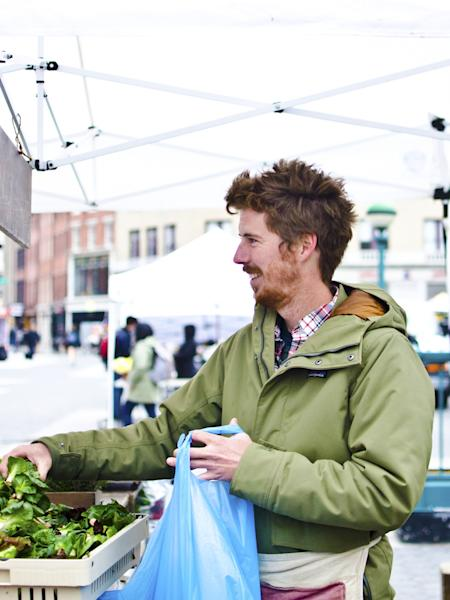 Chris Field and Jessi Okamoto's radicchio brings all the chefs to the greenmarket.