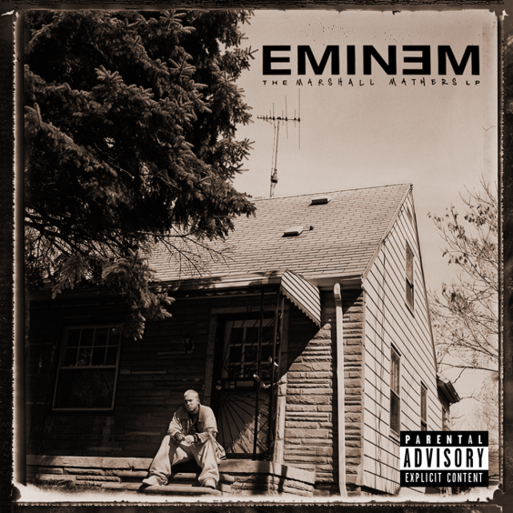 Cover artwork for Eminem's 'Marshall Mathers LP' (Interscope Records)