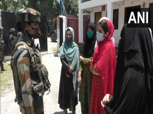Army organises interaction session for female students with riflewomen of Assam Rifles. (Photo/ ANI)