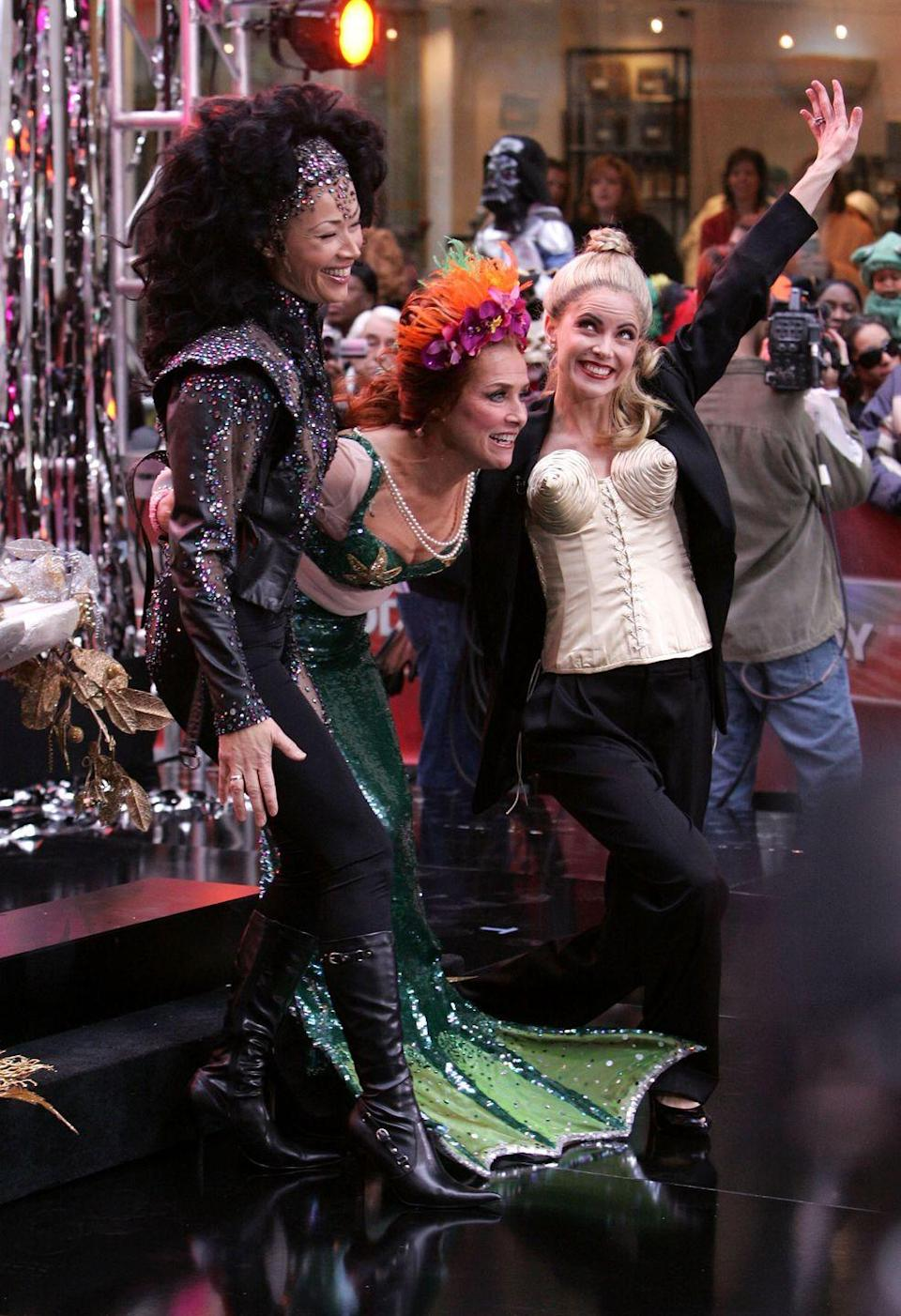 <p>While 2006 didn't have every co-host following the same theme, the costumes were still undoubtedly amazing. Ann Curry went as Cher, Meredith was Bette Midler, and Natalie struck several poses on the Plaza as Madonna. </p>