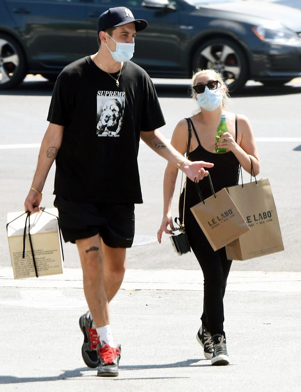 <p>Ashley Benson and new boyfriend G-Eazy stop by Le Labo for an afternoon shop on Tuesday in Los Angeles. </p>