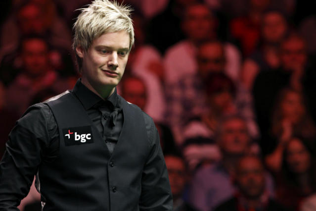 Australia's Neil Robertson looks on during a frame against Shaun Murphy of England during the final of the BGC masters snooker tournament at Alexandra Palace in London, on January 22, 2012. AFP PHOTO / JUSTIN TALLIS (Photo credit should read JUSTIN TALLIS/AFP/Getty Images)