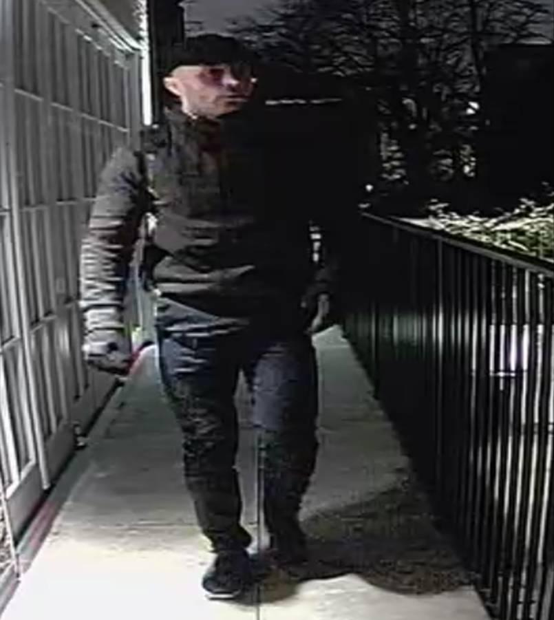 The burglar has struck five times in west London (Picture: Met Police)