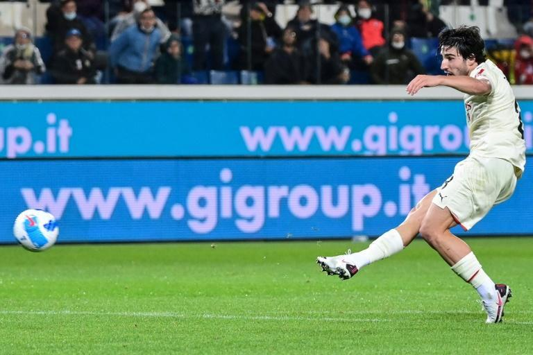 Sandro Tonali's goal was his second in Serie A this season (AFP/MIGUEL MEDINA)