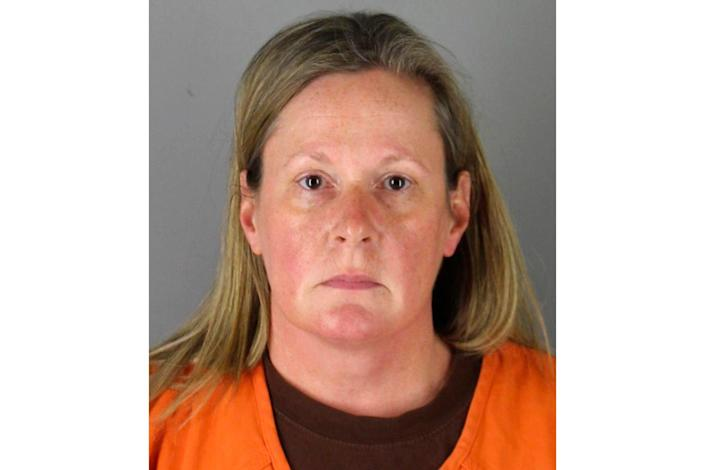 <p>This file booking photo provided by the Hennepin County, Minn., Sheriff shows Kim Potter, a former Brooklyn Center, Minn., police officer. Potter faces a pretrial hearing Monday, May 17, 2021, for charges of manslaughter in Daunte Wright's death during a traffic stop April 11 in Brooklyn Center</p> (Hennepin County Sheriff via AP, File)