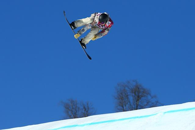 SOCHI, RUSSIA - FEBRUARY 08: Charles Guldemond of the United States competes during the Snowboard Men's Slopestyle Semifinals during day 1 of the Sochi 2014 Winter Olympics at Rosa Khutor Extreme Park on February 8, 2014 in Sochi, Russia. (Photo by Cameron Spencer/Getty Images)