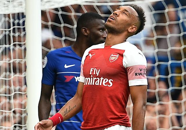 The Arsenal striker missed a couple of glorious chances in their defeat to Chelsea.