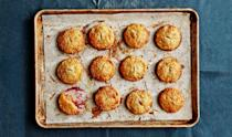 """Ditch the traditional pie and try smaller ones with bolder flavor,"" Amanda says of these tart and sweet individual cranberry pies. <a href=""https://www.bonappetit.com/recipe/flaky-cranberry-hand-pies?mbid=synd_yahoo_rss"" rel=""nofollow noopener"" target=""_blank"" data-ylk=""slk:See recipe."" class=""link rapid-noclick-resp"">See recipe.</a>"