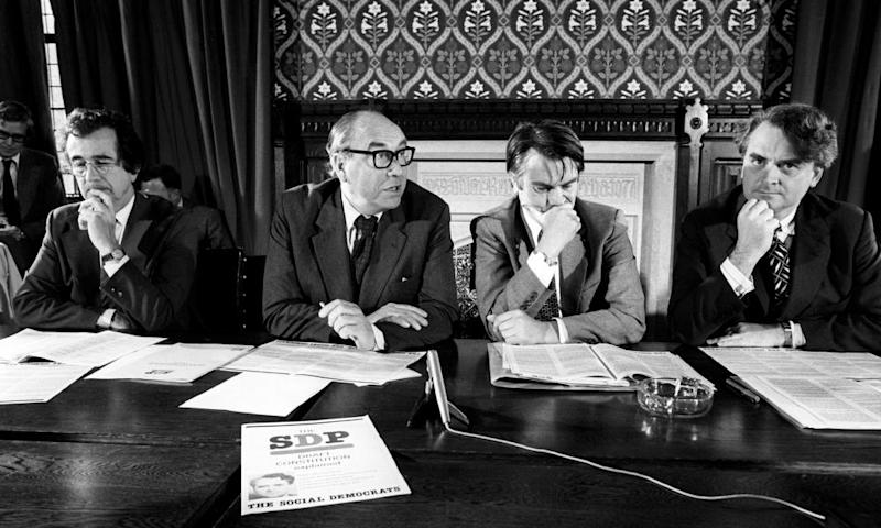 Robert Maclennan, right, with, from left: Bill Rodgers, Roy Jenkins and David Owen in 1981.