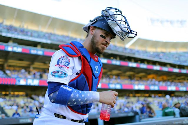 Catcher Yasmani Grandal knows a big deal awaits. (Getty Images)