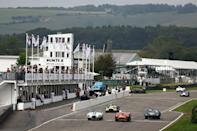 Enthusiasts bringing cars to the Goodwood Revival meeting in southern England from across the Channel faced reams of paperwork (AFP/ADRIAN DENNIS)