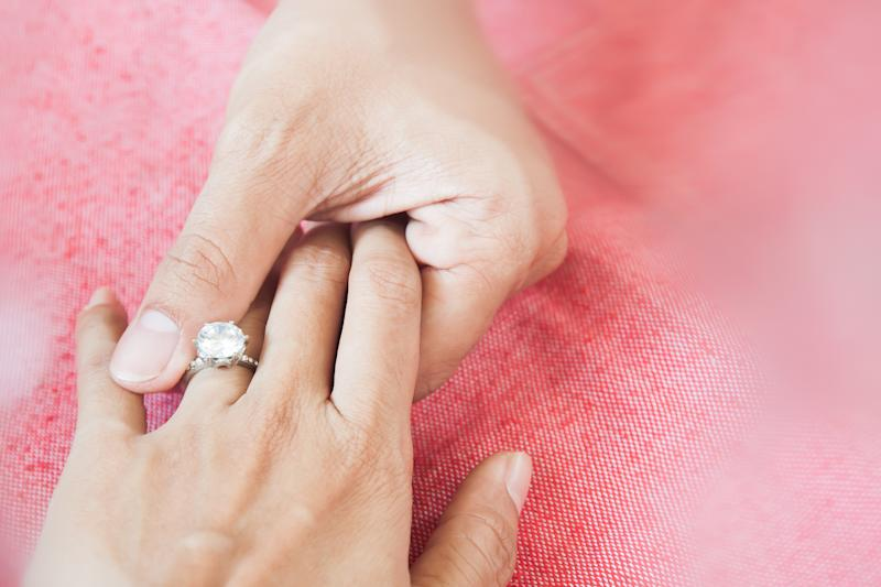 Should you pitch in for your own engagement ring? Source: Getty