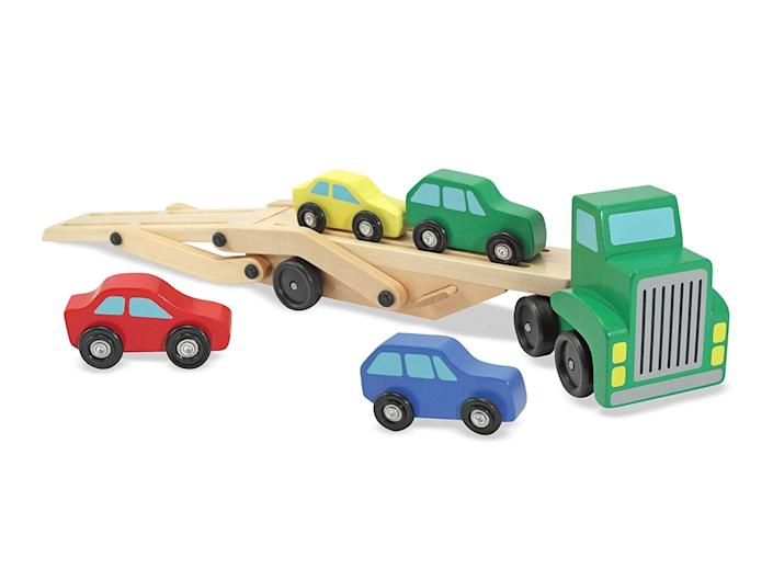 Ditch the plastic and opt for wooden toys instead for playtimeAmazon