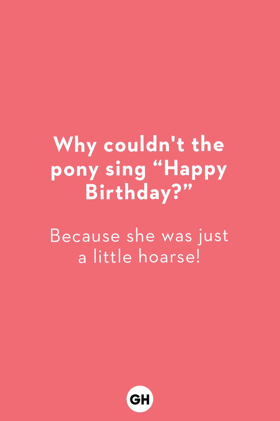 <p>Because she was just a little hoarse!</p>