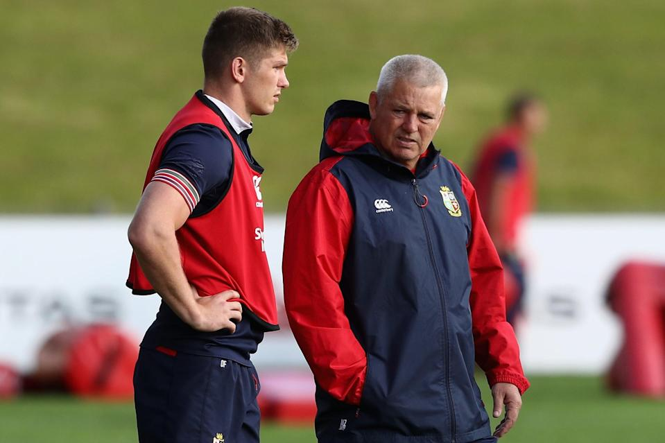 Owen Farrell and Warren Gatland on the 2017 Lions tour (Getty Images)