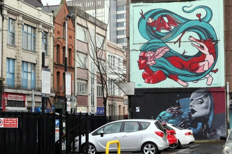 In the city centre a motley array of colourful and non-political murals has for the past few years given Belfast a new face