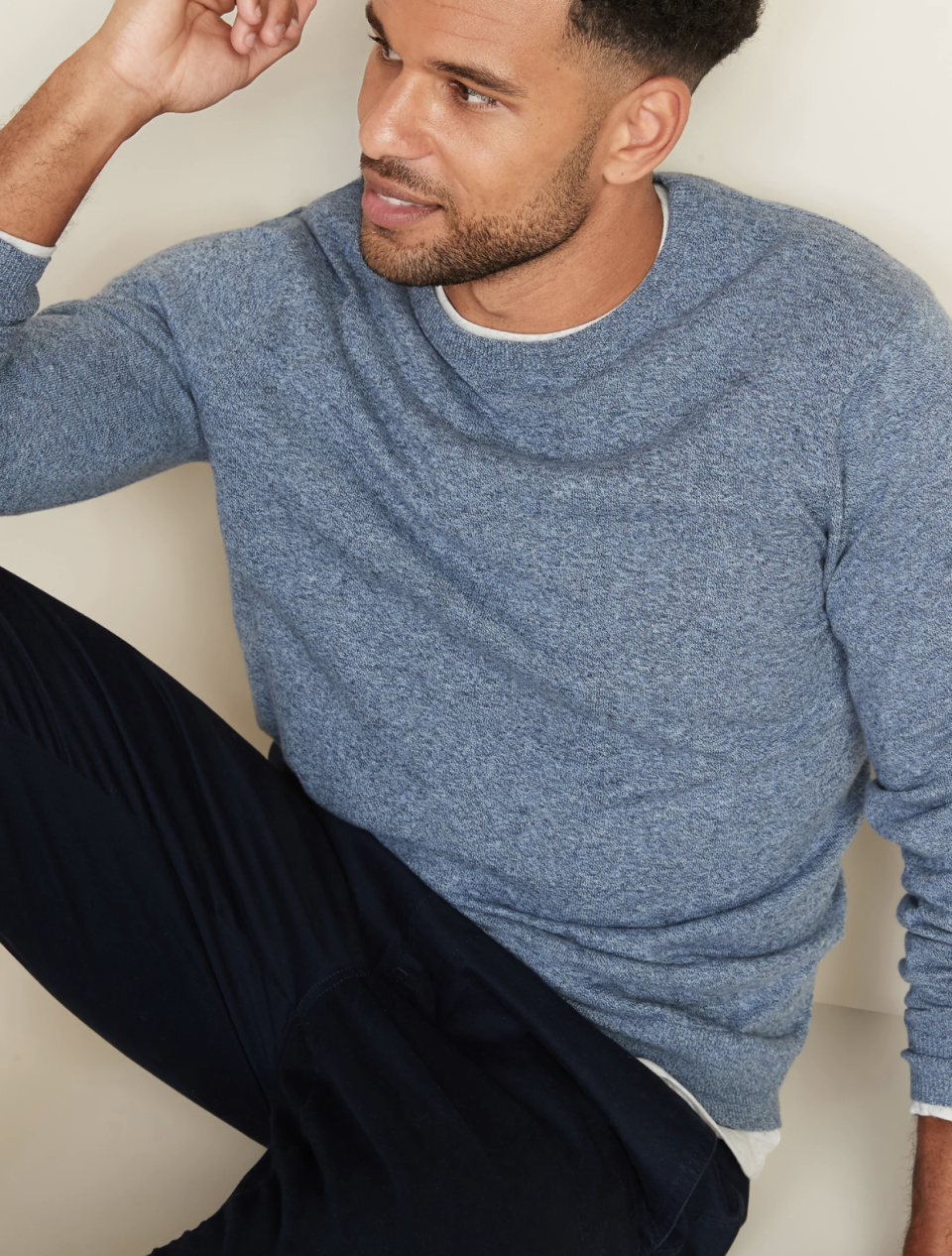 Marled Crew-Neck Sweater for Men on sale now at Old Navy, $18 (originally $35)