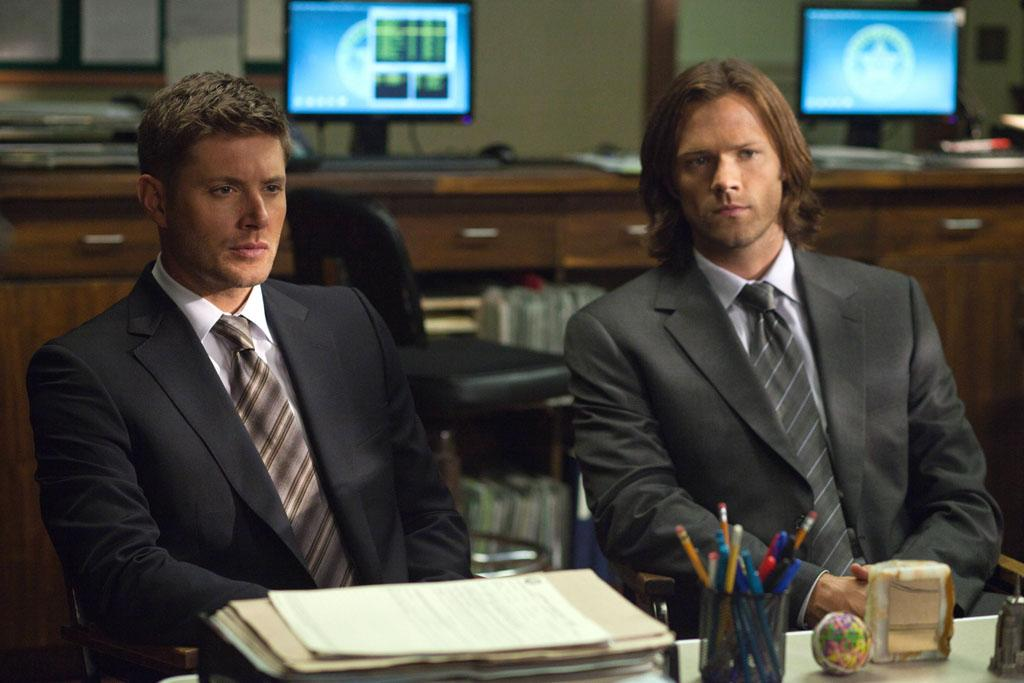 "Jensen Ackles as Dean and Jared Padalecki as Sam in the ""Supernatural"" episode, ""Heartache."""