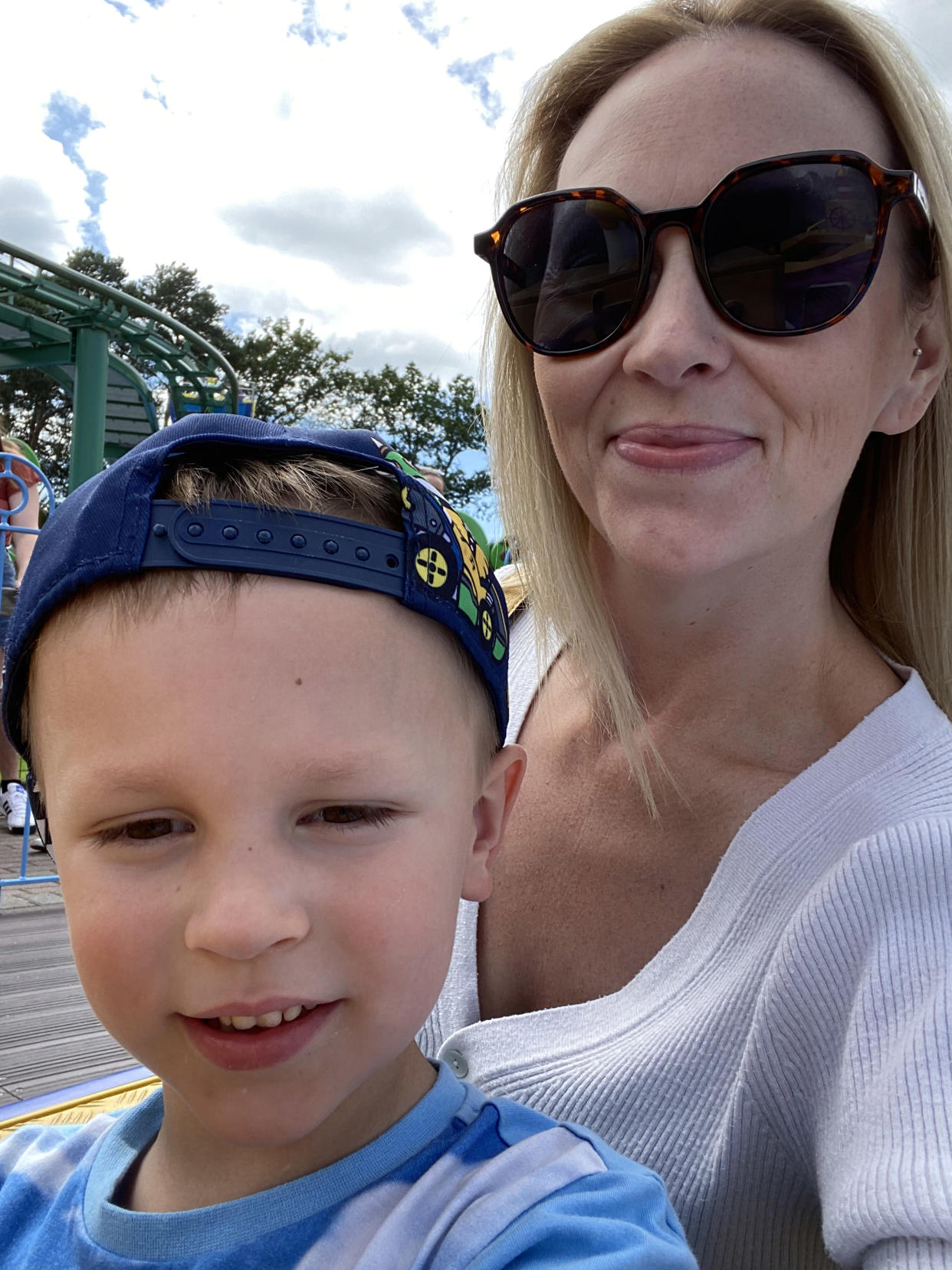 Nicola Boswell with her son Jameson after her weight loss. (Caters)