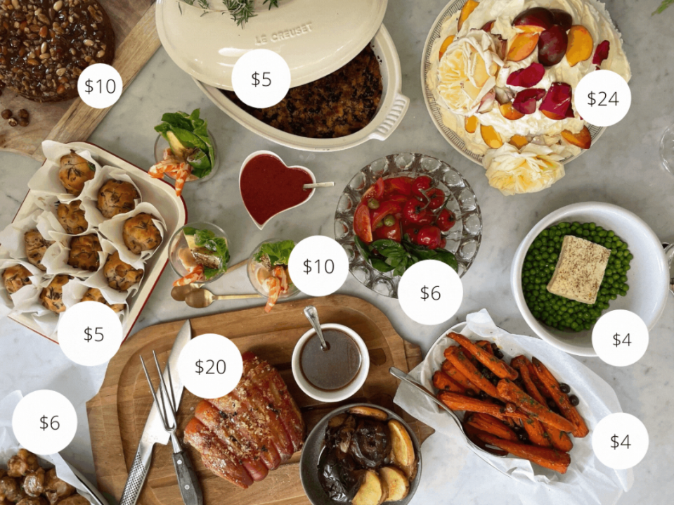 festive lunch for $94