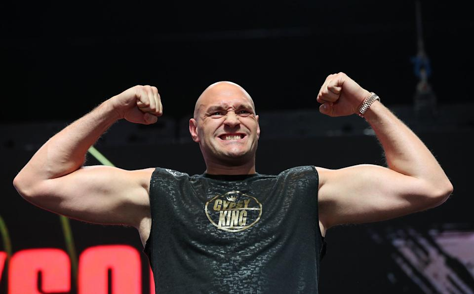Living it up: Tyson Fury is on holiday (PA)