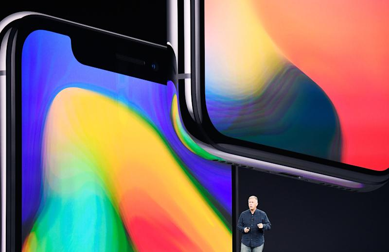 Phil Schiller, senior vice president of worldwide marketing at Apple Inc., speaks about the iPhone X during an event at the Steve Jobs Theater in Cupertino, California, U.S., on Tuesday, Sept. 12, 2017. Apple Inc.unveiled its most important new iPhone for years to take on growing competition from Samsung Electronics Co., Google and a host of Chinese smartphone makers. Photographer: David Paul Morris/Bloomberg via Getty Images