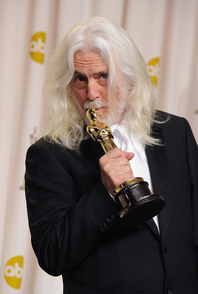 Robert Richardson, winner for Cinematography for 'Hugo' poses in the press room at the 84th Annual Academy Awards held at the Hollywood & Highland Center on February 26, 2012 in Hollywood, California.