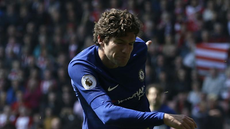 'I didn't see it' - Conte won't comment on Alonso's controversial 'red card' challenge