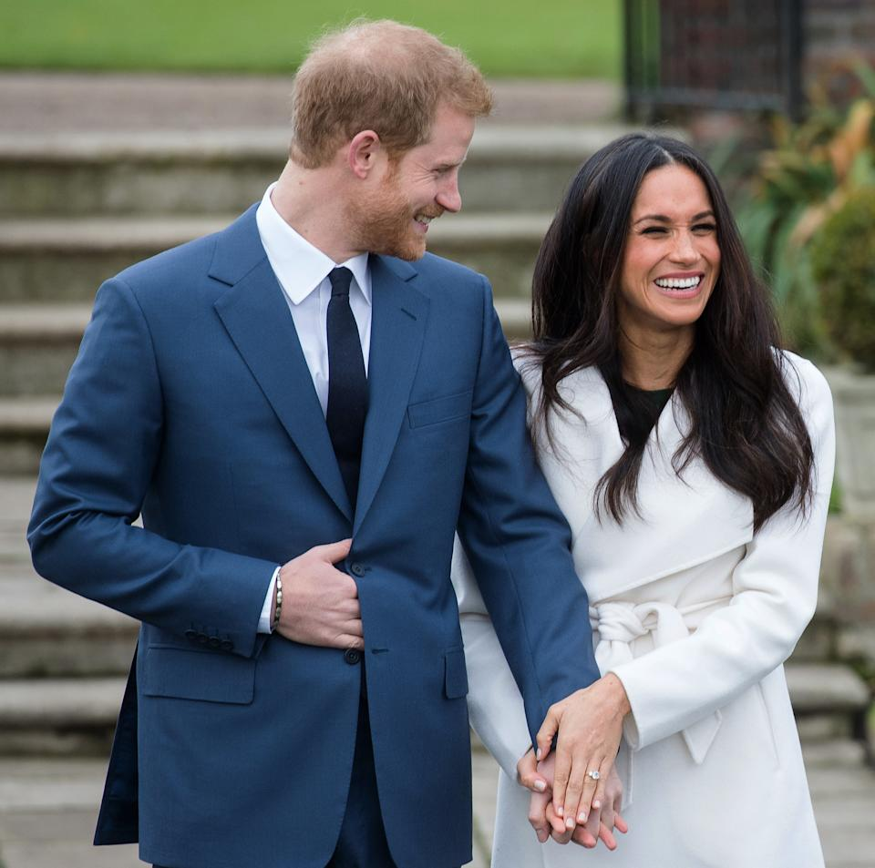 Prince Harry and the former actress announced their engagement in November 2017 [Image: Getty]