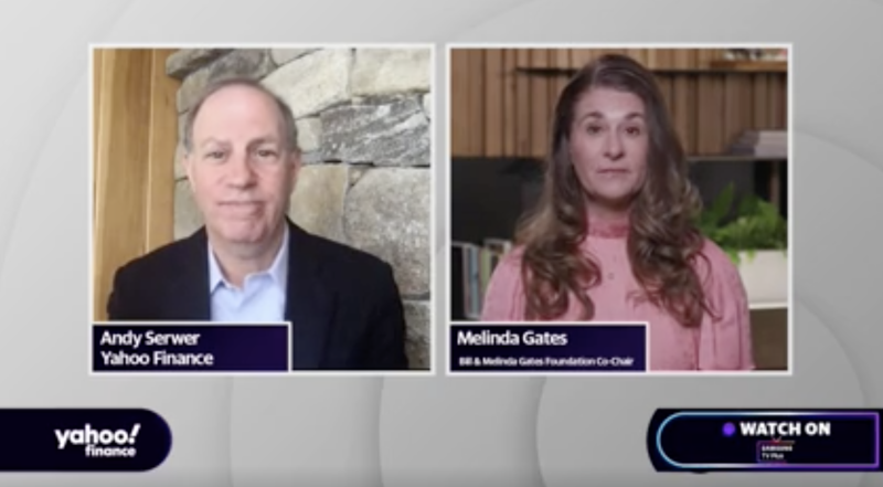 "Melinda Gates, co-chair of the Bill and Melinda Gates Foundation, appears on ""Influencers with Andy Serwer."""