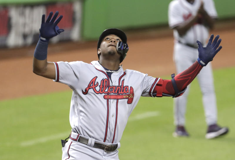 Acuna homers, gets hit again, and Braves top Marlins 5-0