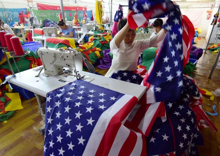 American-themed flags remain among the factory's bestsellers, despite current China-US trade tensions