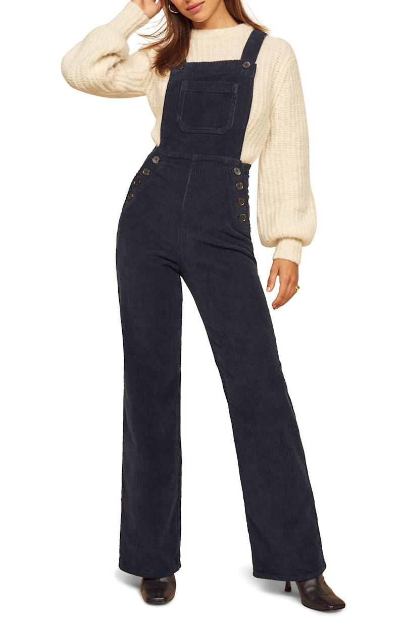 Baldwin Organic Stretch Cotton Corduroy Overalls. Image via Nordstrom.