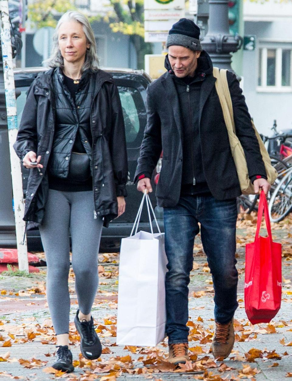 <p>Keanu Reeves and girlfriend Alexandra Grant are seen running errands in Berlin on Sunday.</p>