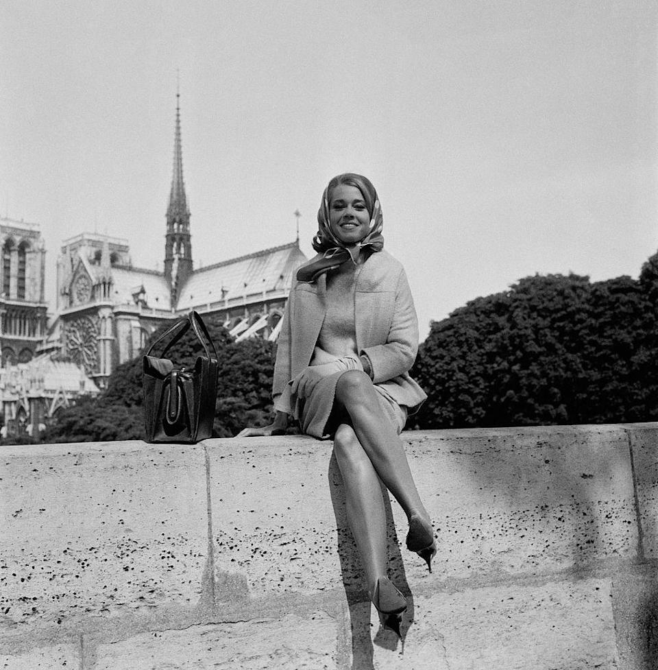 <p>Actress and activist Jane Fonda poses in Paris in 1963. She would return to the city two years later to film Roger Vadim's <em>The Game Is Over</em>.</p>