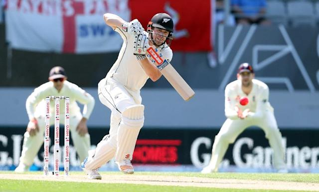 New Zealand's Henry Nicholls batted for 410 minutes and faced 268 balls to post a valuable 145 on day four of the first Test against England (AFP Photo/MICHAEL BRADLEY)