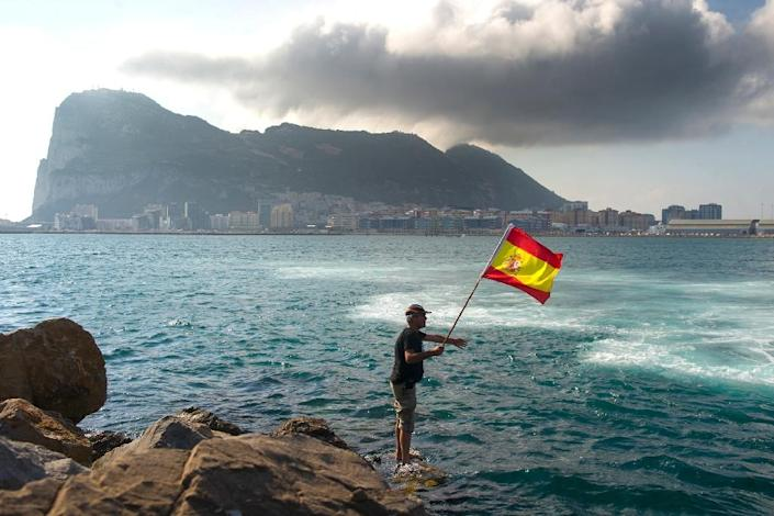 Gibraltar, famous for its rock, is nestled on the southern tip of Spain and has long been a source of friction between London and Madrid, which wants it to come back under its control centuries after it was ceded to Britain in 1713 (AFP Photo/Marcos Moreno)
