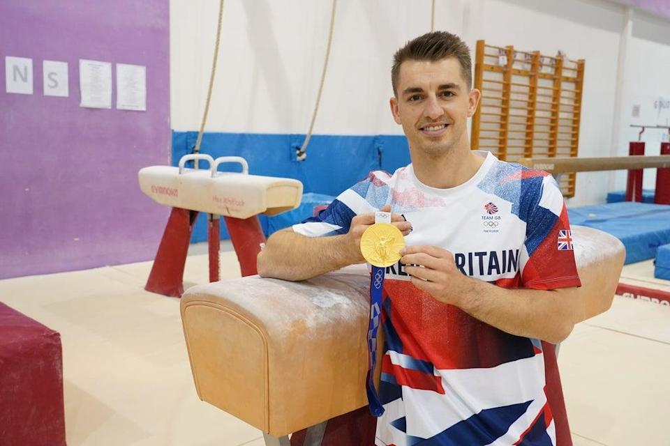 Olympic gold medal gymnast Max Whitlock at South Essex Gymnastics Club in Basildon where he trains (Ian West/PA) (PA Wire)