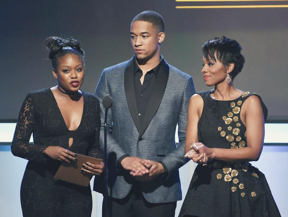 Actors Jazz Raycole, Peyton Alex Smith and Anika Noni Rose at the BET Presents the American Black Film Festival Honors on Feb. 17, 2017. (Kevin Winter/Getty Images) (Photo: )