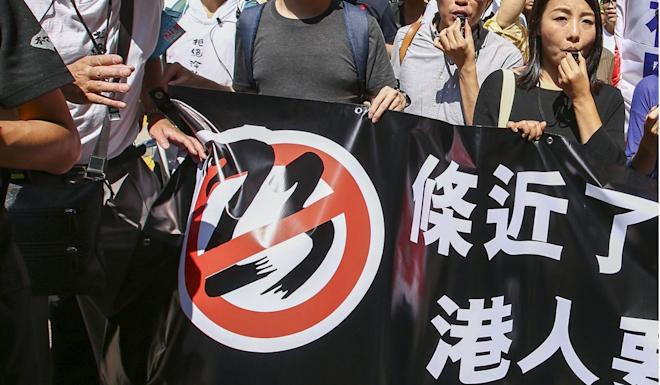 There remains opposition to Article 23 in Hong Kong. Photo: Edmond So